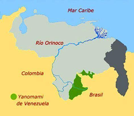 Yanomamimapa viajes por venezuela yanomami de venezuela mapa thecheapjerseys Choice Image