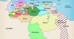 División Político Territorial de Venezuela   Mapa