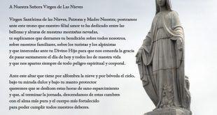 Oración a Nuestra Señora Virgen de Las Nieves