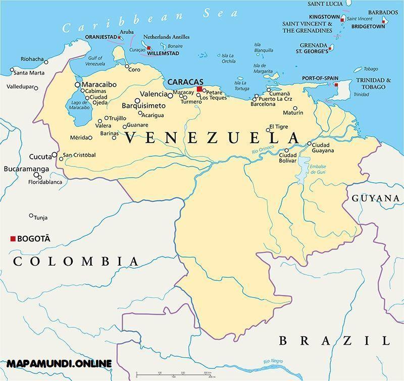 Mapa de Venezuela | Político y Físico